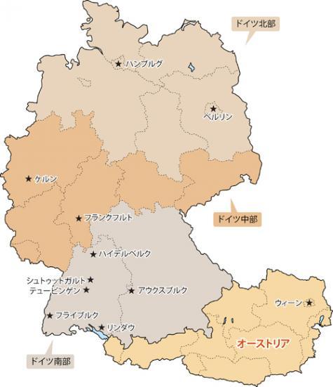 ドイツの全体地図